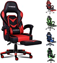ALFORDSON Gaming Chair Racing Chair Executive Sport Office Chair with Footrest PU Leather Armrest Lumbar Cushion Home Chai...