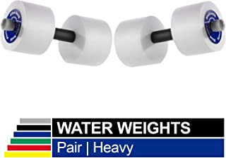 TheraBand Water Weights,  Aquatic Dumbbells for Pool Fitness,  2 Foam Weights with Padded Grip for Water Aerobics,  Therapy,  Workouts,  Pool Exercise Equipment,  Aqua Training,  Blue,  Heavy,  Advanced