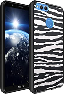 Huawei Honor 7X Case, Capsule-Case Hybrid Slim Hard Back Shield Case with Fused TPU Edge Bumper (Black) for Huawei Honor 7X - (Zebra)