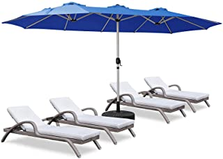 ROWHY 15ft Patio Umbrella Double-Sided Outdoor Market...