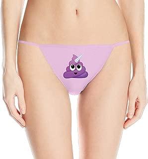 Purple Unicorn Poop Emoji Printing Of Sexy Fashion Sleek Model Thong Underwear