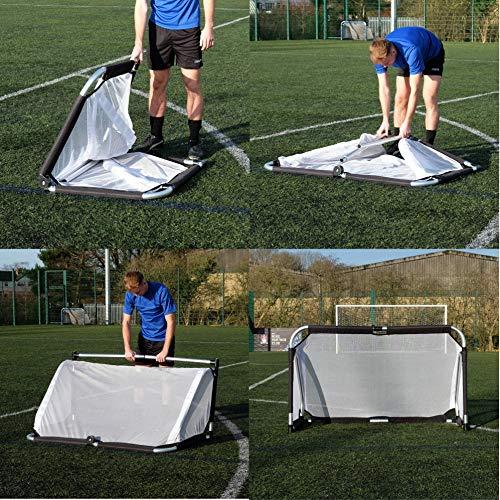 PROGOAL 5FT X 3FT ALUMINIUM FOLDING FOOTBALL GOAL
