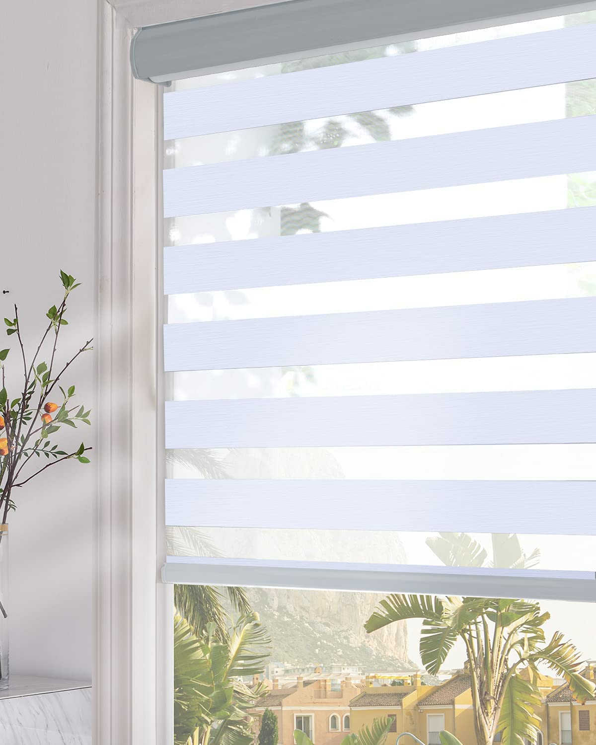 OFFer Persilux Blackout quality assurance Zebra Window Shades Roller Sh Dual Layer Sheer