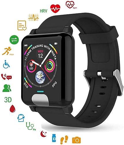 Traqueur intelligent de bracelet de bracelet d'ECG PPG IP67 étanche écran couleur Montre de sport bleutooth Pression artérielle fréquence cardiaque podomètre moniteur de sommeil pour iOS Android