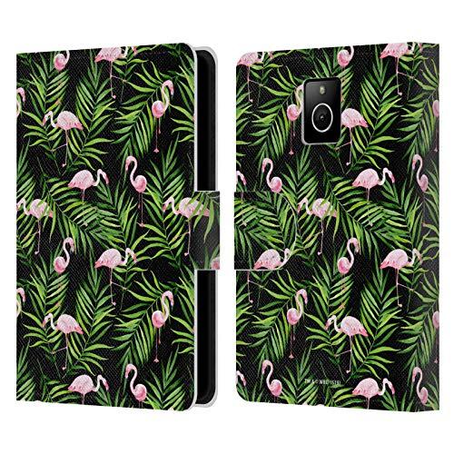 Head Case Designs Offizielle Julia Badeeva Flamingos Tiere Leder Brieftaschen Huelle kompatibel mit BlackBerry Passport
