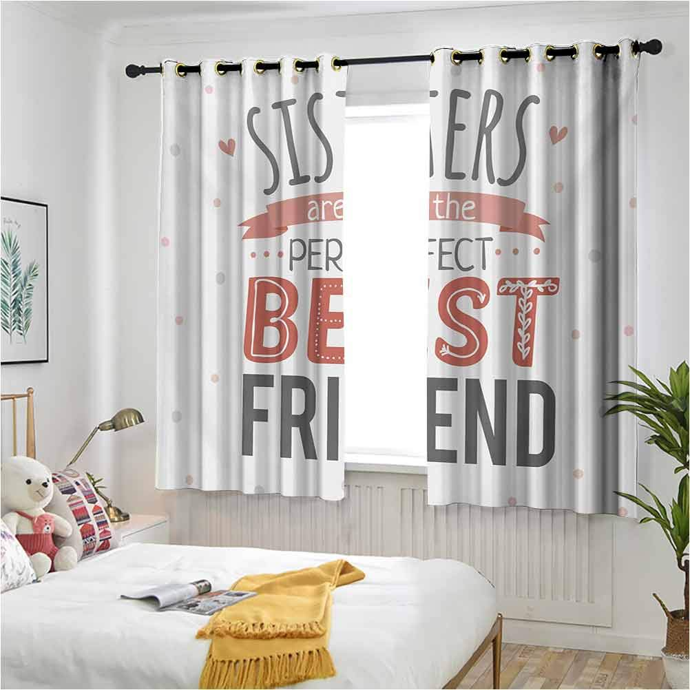 Quote Bombing new work Blackout Max 54% OFF Curtain Panels Emotional Sisters Sisterhood
