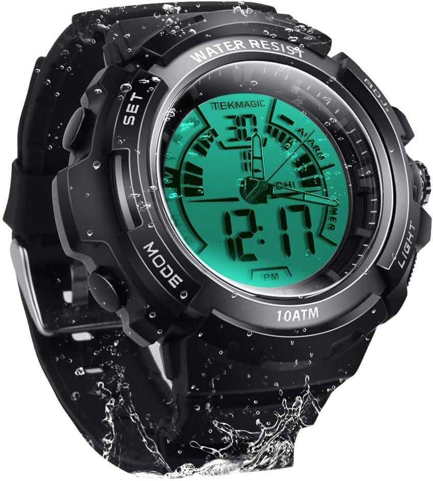 TEKMAGIC Digital Watch 100m Underwater Waterproof for Swimming D