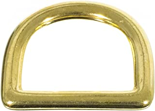 Craft County Brass D-Ring - 1 Inch (Inside) - Comes in Packs of 2, 5, 10, 15, 20 and 25 - DIY Crafting