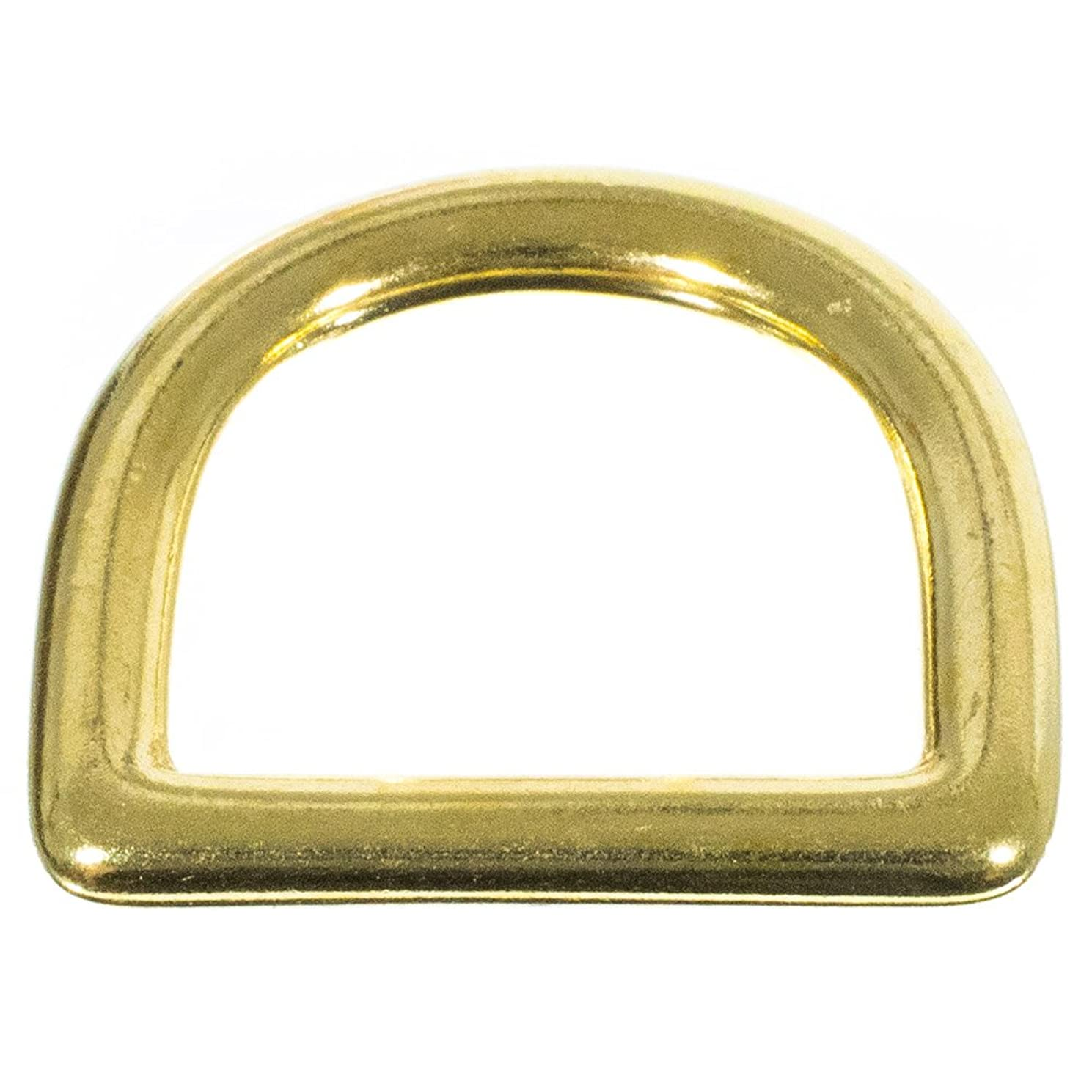 Craft County Brass D-Ring – 1 Inch (Inside) – Comes in Packs of 2, 5, 10, 15, 20 and 25 – DIY Crafting
