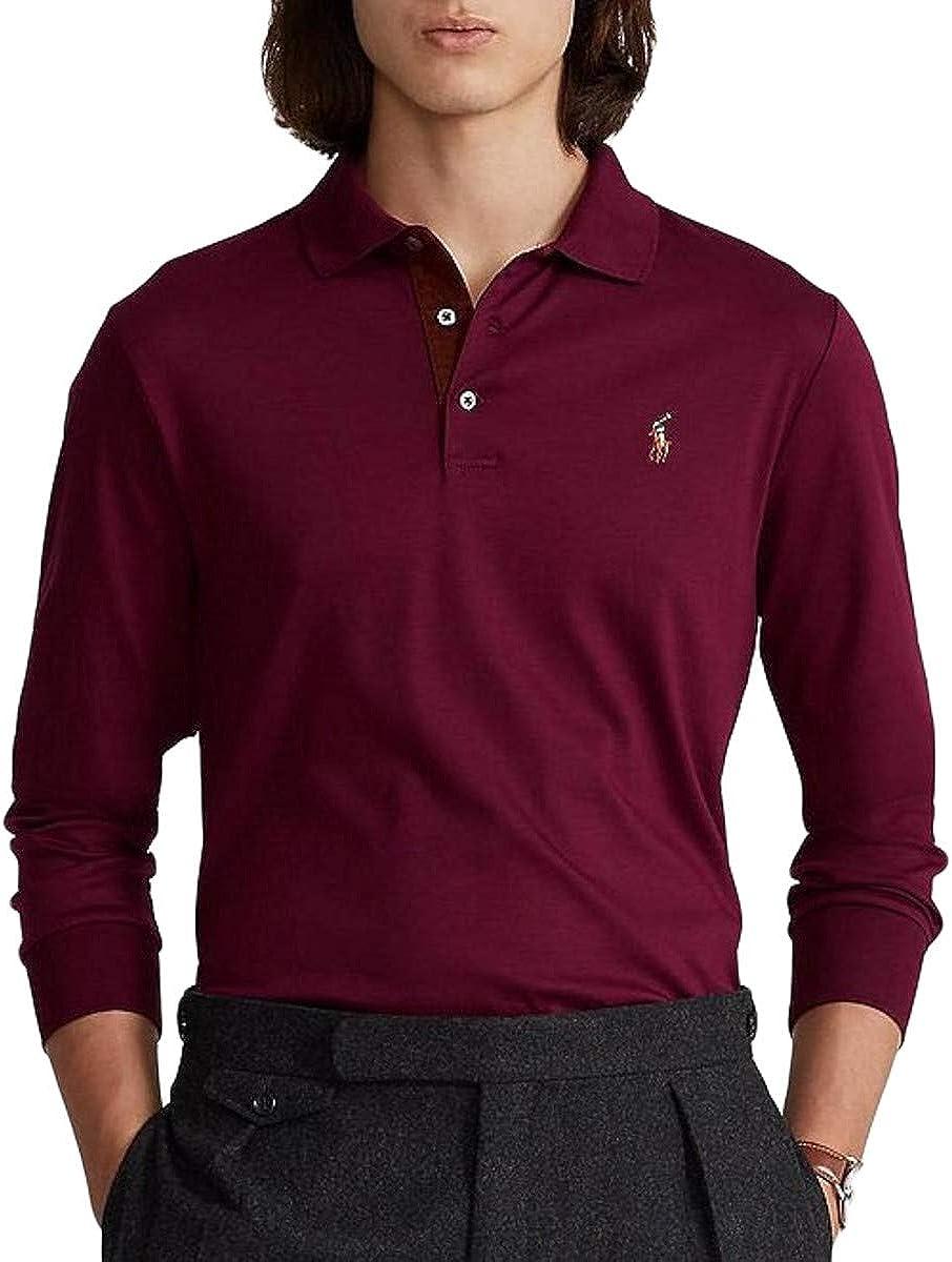Polo Ralph Lauren Men's Big & Tall Classic Fit Soft Touch Long Sleeve Polo Shirt