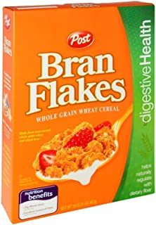 Post Bran Flakes Whole Grain Wheat Cereal 16 oz (Pack of 12)