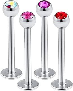 4 件 16g Monroe 穿孔耳环珠宝水晶穿孔耳环螺旋耳骨 玛丽莲 BQAB 挑选颜色