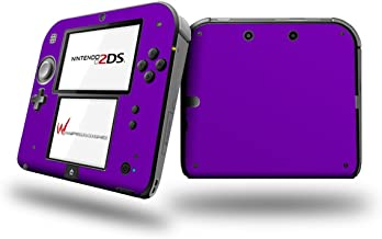Solids Collection Purple - Decal Style Vinyl Skin fits Nintendo 2DS - 2DS NOT INCLUDED (OEM Packaging)