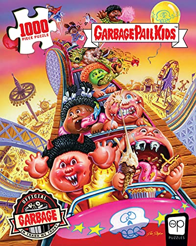 Garbage Pail Kids Thrills and Chills 1000 Piece Jigsaw Puzzle | Officially Licensed Garbage Pail Kids Merchandise | Collectible Puzzle Featuring Original GPK Favorites