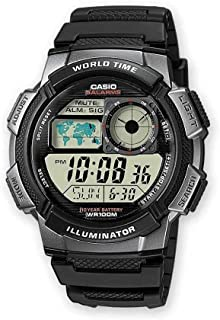Casio Men's Dial Silicone Band Watch - AE-1000W-1BVDF