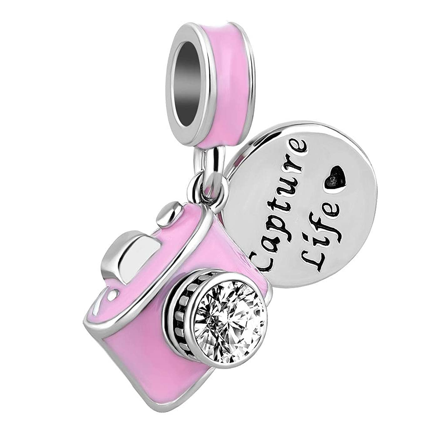 Heart of Charms Love Capture Life Heart Camera Charms Dangle Charm Beads