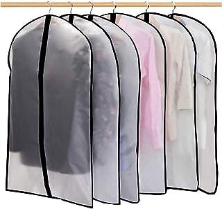Housses de Vêtements,12Pcs/6Pcs Housse pour Costume, Penderie Protection Pliable Sac de Vêtement, Protection Transparentes...