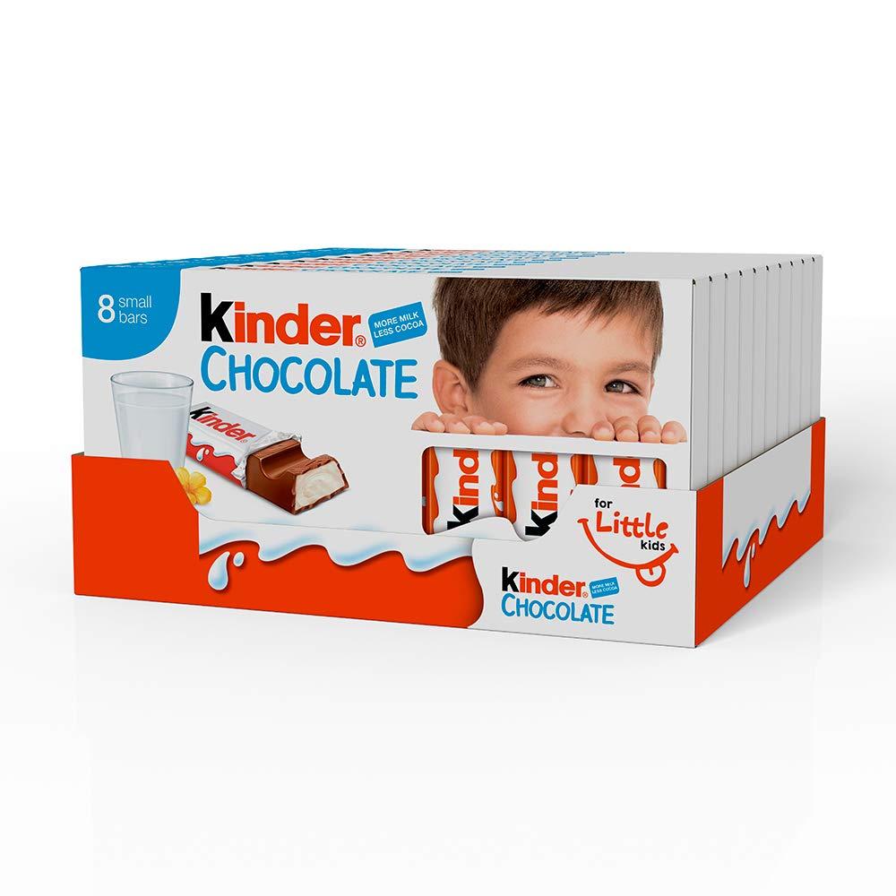 Ferrero kinder barrette di cioccolato al latte 10 confezioni 1kg ...