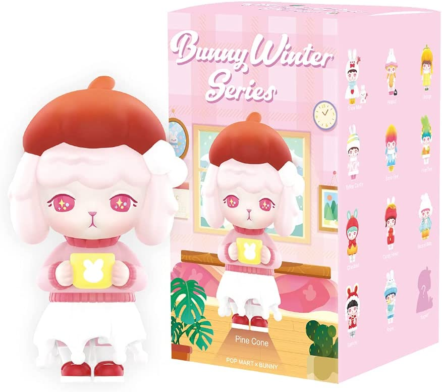 POP MART Bunny Winter Series 1 PC Blind Box Toy Box Bulk Popular Collectible Random Art Toy Hot Toys Cute Figure Creative Gift, for Christmas Birthday Party Holiday