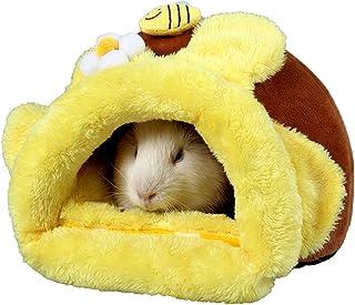 NCONCO Cama cálida de invierno para conejillo de indias, hámster, erizo, animales pequeños, acogedora y suave casa