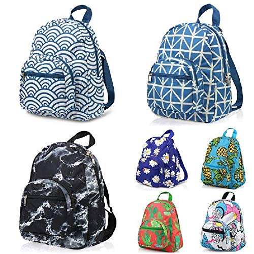 Best Small Travel Backpack Schoolbag Zipper Bookbag Lunch Bag #EDTY