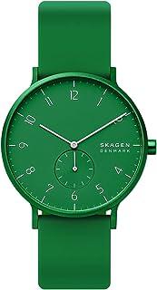 Skagen Aaren Men's Green Dial Silicone Analog Watch - SKW6545
