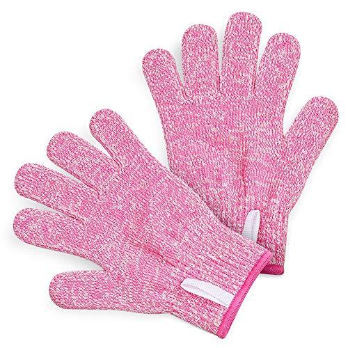 FeiyanfyQ Guanti, 1 paio di guanti da lavoro ad alta resistenza, resistenti al calore, anti-taglio, livello 5, regalo di Natale Rosa