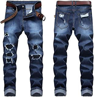 LXLDH Ripped Destroyed Hip Hop Jean Homme Fashion Men's Jean Slim Jeans for Male Pants