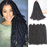 Xtrend Passion Twist Hair 6packs 18inch Bohemian Braids for Crochet Passion Twist Water Wave Crochet Braiding Hair Synthetic Fiber Natural Twist Braiding Hair 22 Strands/Pack 2#