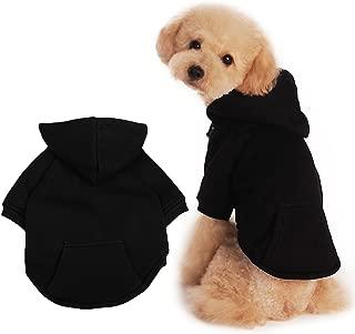 BaoZhang Pet Fleece Hoodies Basic Cotton Sweatshirt with Pocket Puppy Cat Winter Jacket Dog Cold Weather Coats