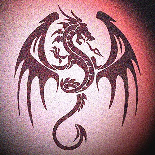 Wide Wing Dragon Stencil Gothic Dragons Wall Painting Stencils