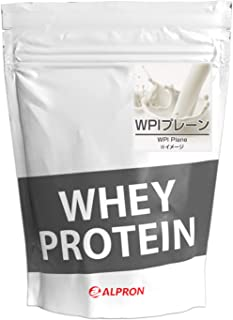 ALPRON(アルプロン) WPIホエイプロテイン100 プレーン (1kg / 約50食分) タンパク質 ダイエット 粉末ドリンク [ 低脂肪/低カロリー/無添加 ]