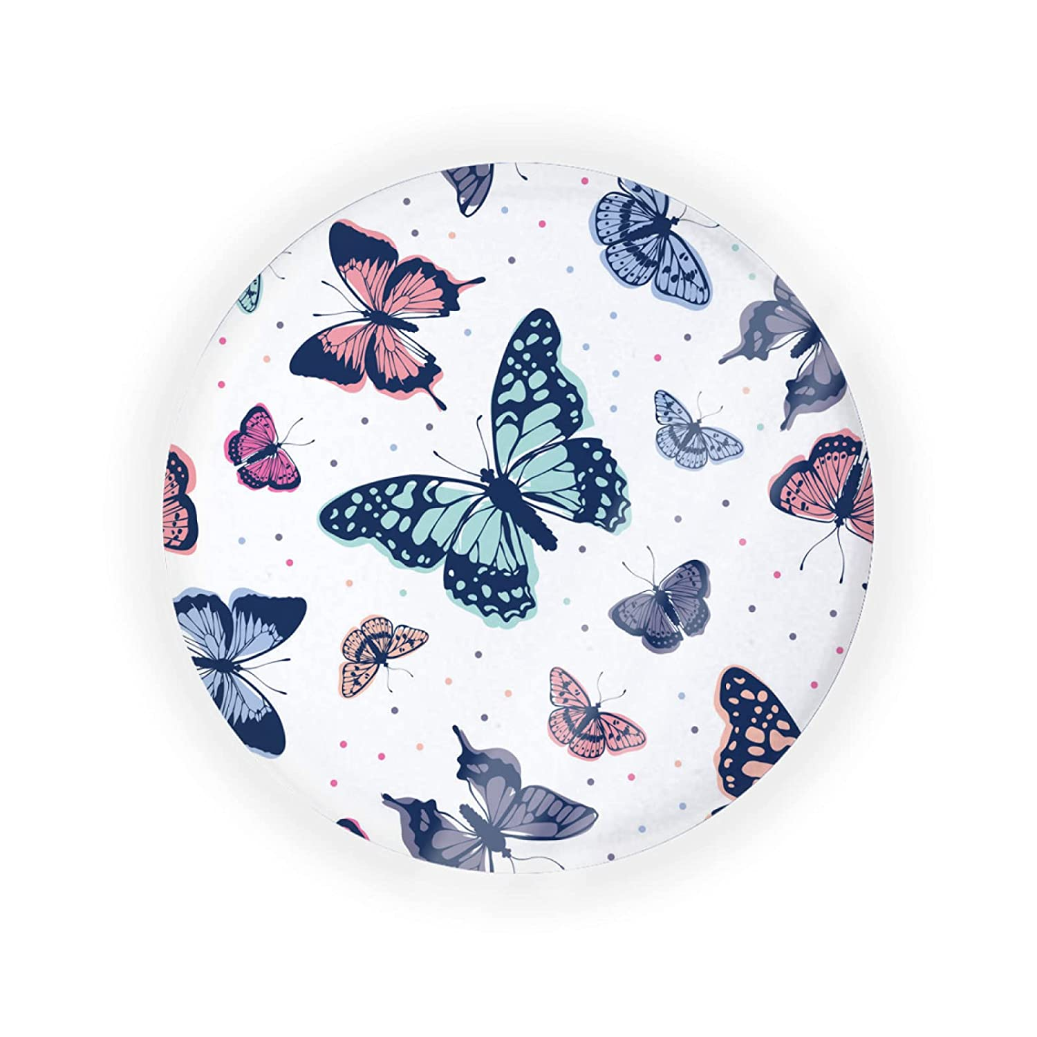 ZXZNC Empty Portable Air New Orleans Mall Cushion Colorful 1 year warranty Box Puff Butterfly On