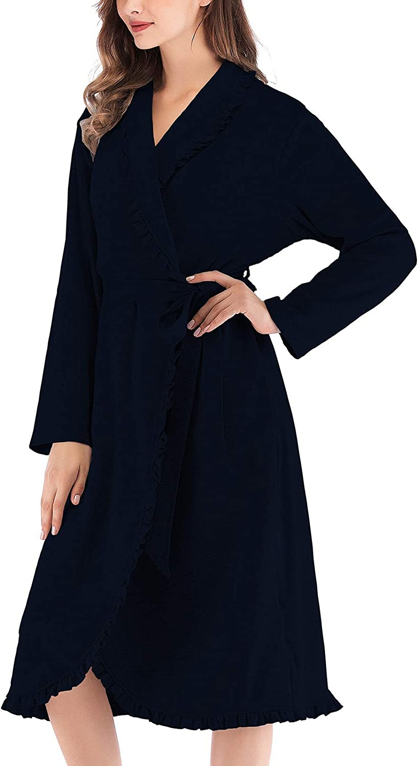 Women's Casual Winter mart Leng 67% OFF of fixed price Bathrobe Clothes Lon Color Home Solid