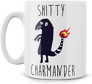 Shitty Charmander Dank Meme Nerd Gift Meme Funny Geek Nerd Ceramic 11oz Coffee Mug Tea Cup Best Birthday Gift Green Toad