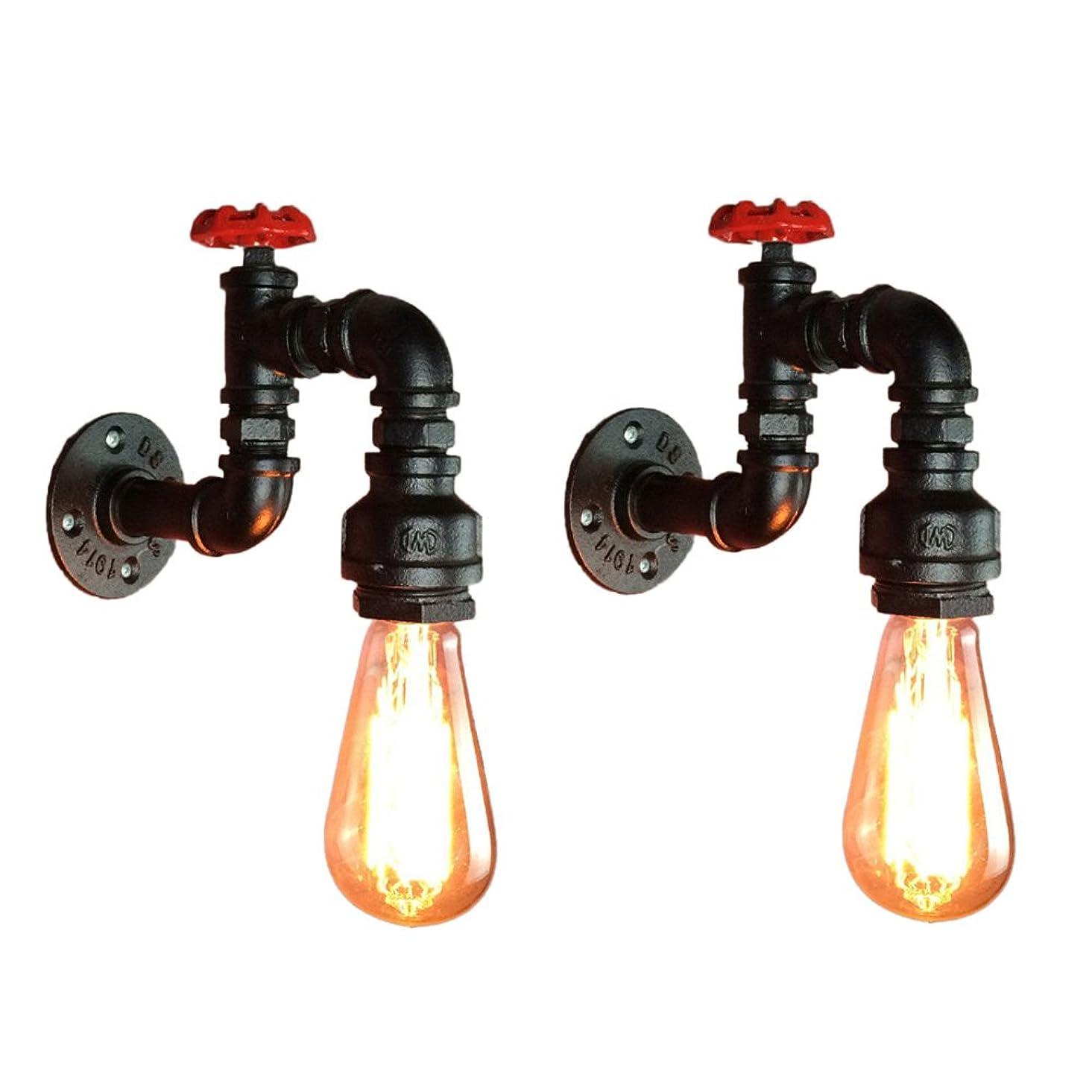 六オンス記述するDCCRBR 産業スタイルの屋根裏部屋の水道管の壁ランプの鉄の壁ランプのバルコニーの通路のレストランの寝室の照明E27 装飾的な壁の光