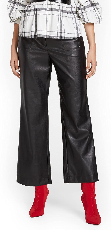 New York Co. Women's Capri Wide-Leg Faux-Leather Regular discount Pant Minneapolis Mall