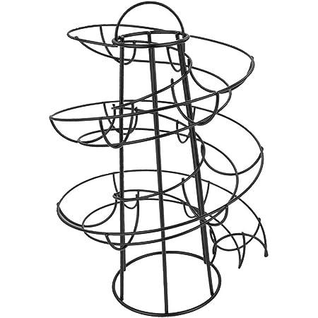 Modern Metal Spiral Egg Roller Wire Rack Keeper 24 Eggs Kitchen Worktop