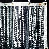 ビニールカーテン FT06 防炎 透明 糸入り PVC 0.35mm厚 ▼幅200cm ▽丈200cm JQ7 サイズオーダー