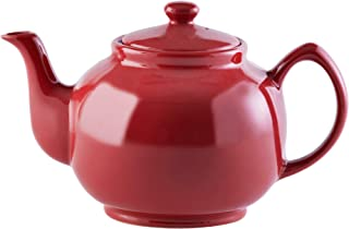 Price & Kensington, 10 Tassen Teekanne, Steingut, rot, glänzend