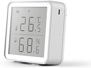 Festnight Tuya WiFi Higrómetro Digital Inteligente Sensor inalámbrico de Temperatura y Humedad Interior Monitor con Alerta de aplicación para el Dormitorio de la Oficina en casa Compatible con Siri
