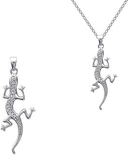 PENDENTIF Salamandre en ARGENT 925 /& Zirconium neuf