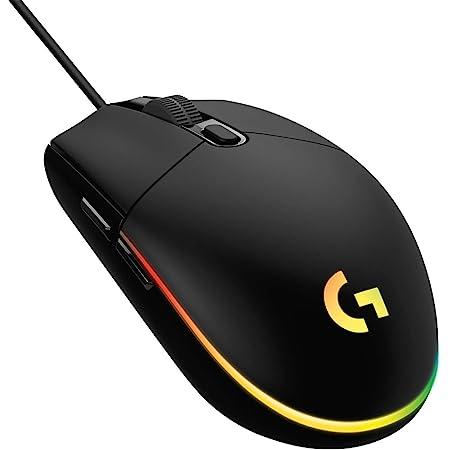 Logitech G ゲーミングマウス 有線 G102 LIGHTSYNC RGB 6個プログラムボタン 85g軽量 G102-BK (Logitech G102 IC PRODIGY 後継機)【海外モデル】