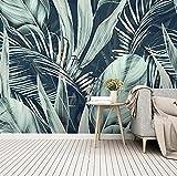 murales decorativos pared Hojas de palmera del bosque tropical 300x210cm Papel Pintado 3D Mrales Moderna Foto Mural Pared Salón Fotomurales Decorativos Pared Papel