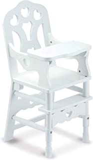 Melissa & Doug 9382 White Wooden 20-Inches Tall Doll High Chair