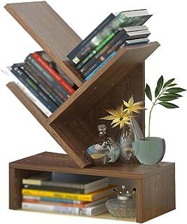 XJJUN Tree Bookshelf,3/5-Shelf Bookcase Rack, Free Standing Book Storage Organizer, Books/CDs/Albums/Files Holder In Livin...