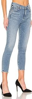 Women's Rocket Crop High Rise Faded Skinny Jeans, Serenity - 29