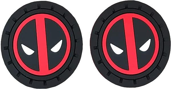 Plasticolor Marvel Comics Deadpool Cup Holder Coasters Auto Truck SUV