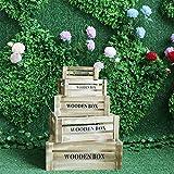 LINPAN Retro Maleta de Viaje Adornos de decoración de Boda 5pcs Puntales de Madera Retro Caja de Almacenamiento Caja de Almacenamiento Antiguo de la Vendimia (Color : Brown, Size : 5pcs)