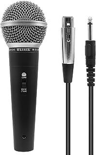 Profesional Micrófono vocal dinámico - Cardioide unidireccional Micrófono de mano - 16,4 pies/5 metros Conector XLR (M-58)